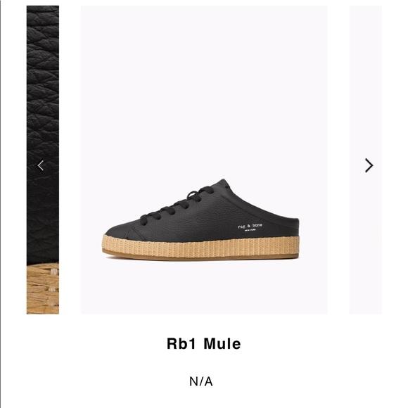 e17019d5d33e7 rag & bone Shoes | Brand New Rag Bone Leather Slide Sneaker Mules ...